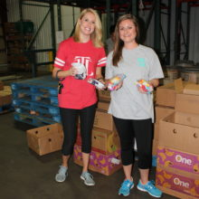 Provisionals packed meals at the East Texas Food Bank during the Provisional Retreat Sept. 10.